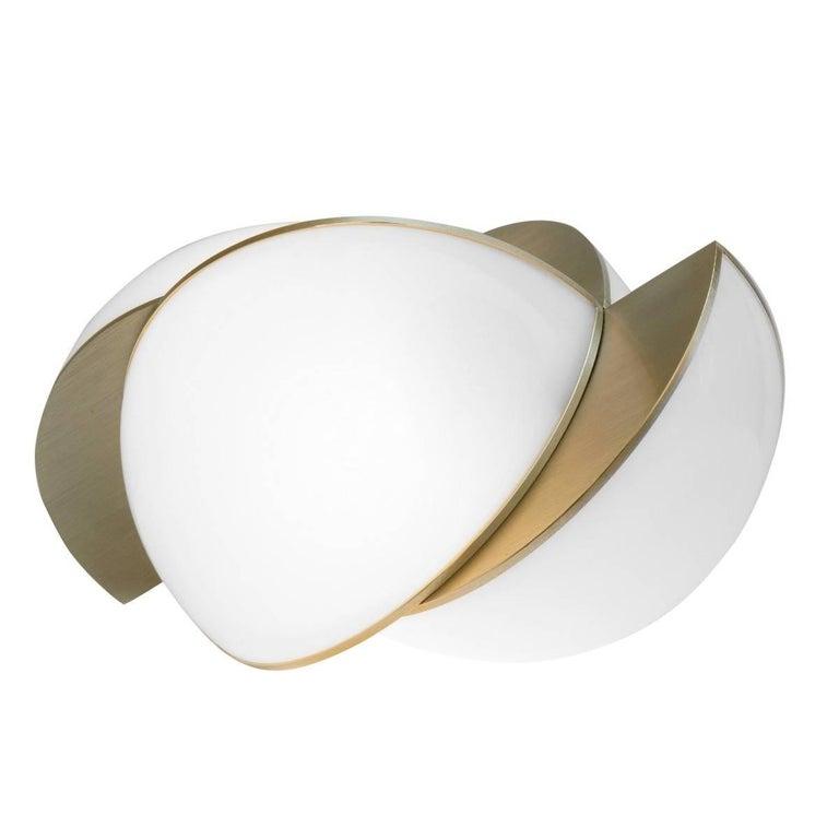 Lara Bohinc, Collision Large Table Light, Gold Galvanic with White Acrylic 1