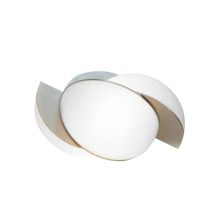 Lara Bohinc, Collision Small Table Light, Gold Galvanic with White Acrylic