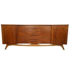 Sculpted Mid-Century Modern Dresser