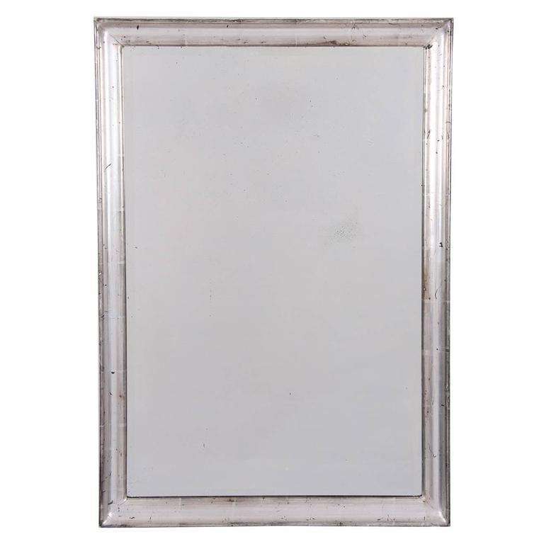 Small silver leaf mirror french circa 1950 for sale at for Small silver mirror