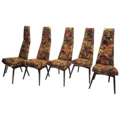 Set of Five Adrian Pearsall Dining Chairs