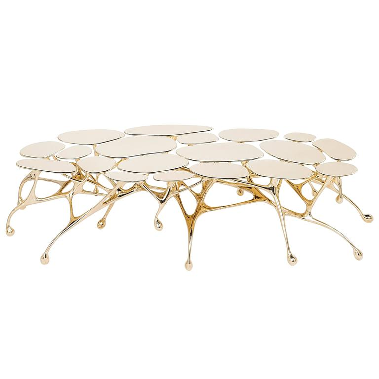 Brass Coffee Table/Accent Table by Zhipeng Tan 1