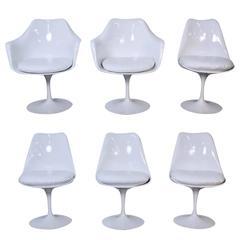 Set of Six Mid-Century Eero Saarinen for Knoll Tulip Chairs