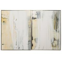 Diptych in White Sheer by John La Huis