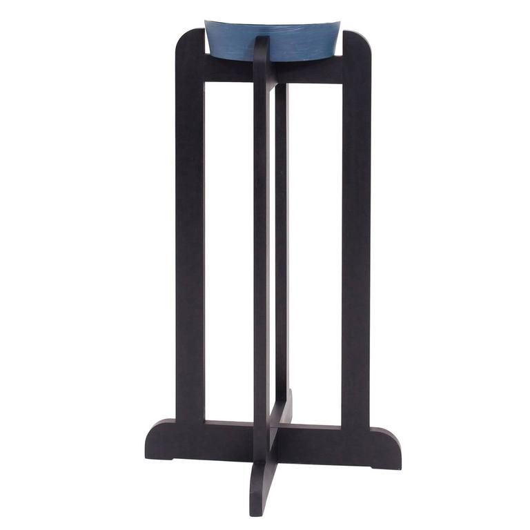 QE2 Plant Stand in Ebonized Maple For Sale