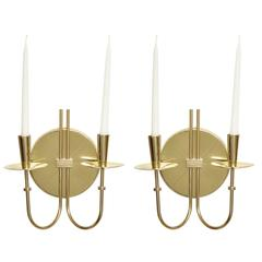 Tommi Parzinger Brass Sconces, Two Pairs Available