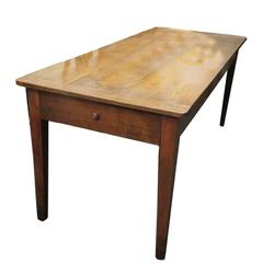 Mid-19th Century French Chestnut and Oak Dining Table