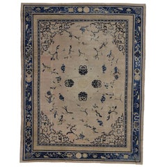 Antique Chinese Peking Rug with Chinoiserie Style