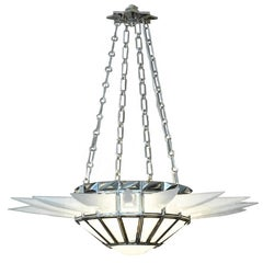 Contemporary Rock Crystal Quartz Chandelier