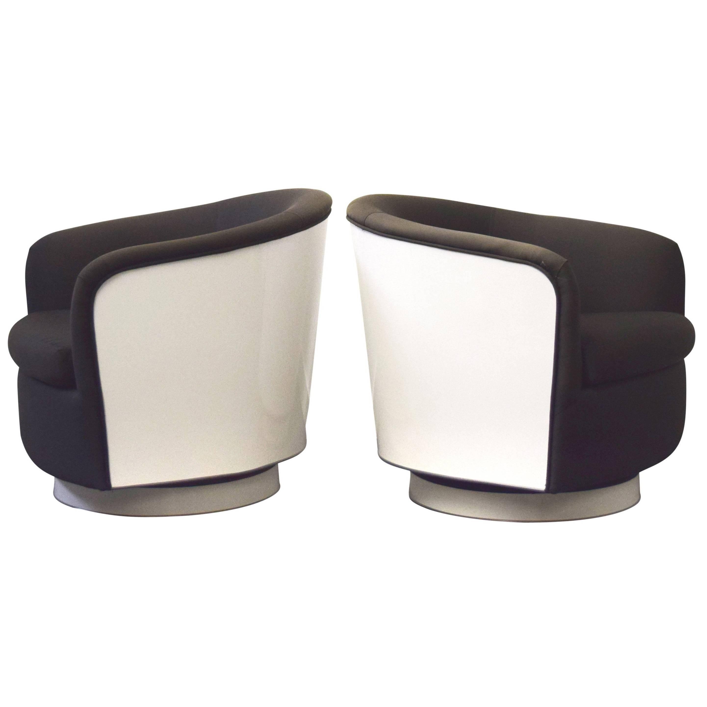 Milo Baughman Swivel and Tilt Lounge Chairs
