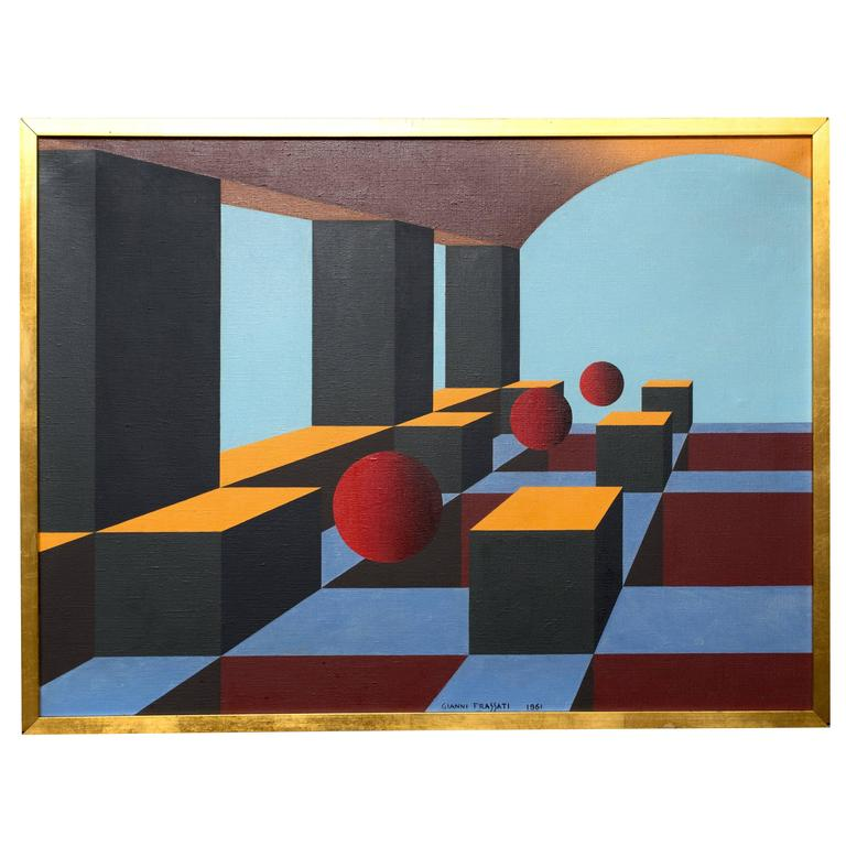 Gianni Frassati Geometric Abstract Painting
