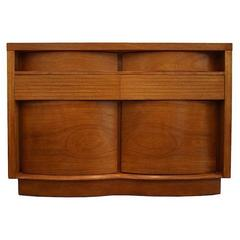 Teak Bow Front Cabinet