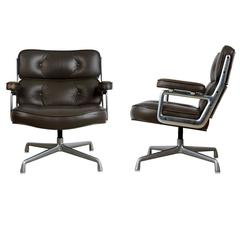 Dark Grey Time Life Lobby Lounge Chairs by Charles Eames for Herman Miller