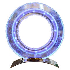 Blue Ring Medium Clock Crystal, 2017