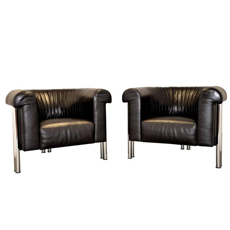 Swiss de Sede Executive Lounge Armchairs, 1980s