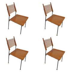 Set of Four Vintage Mid-Century Paul McCobb Shovel Dining Chairs