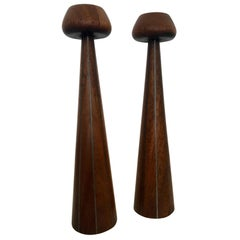 Pair of Early Candlestick by Paul Evans and Phillip Powell