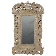 Cherubs and Cross Surround Mirror, 19th Century