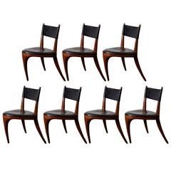 Seven Handcrafted Tripod Chairs by Allen Ditson