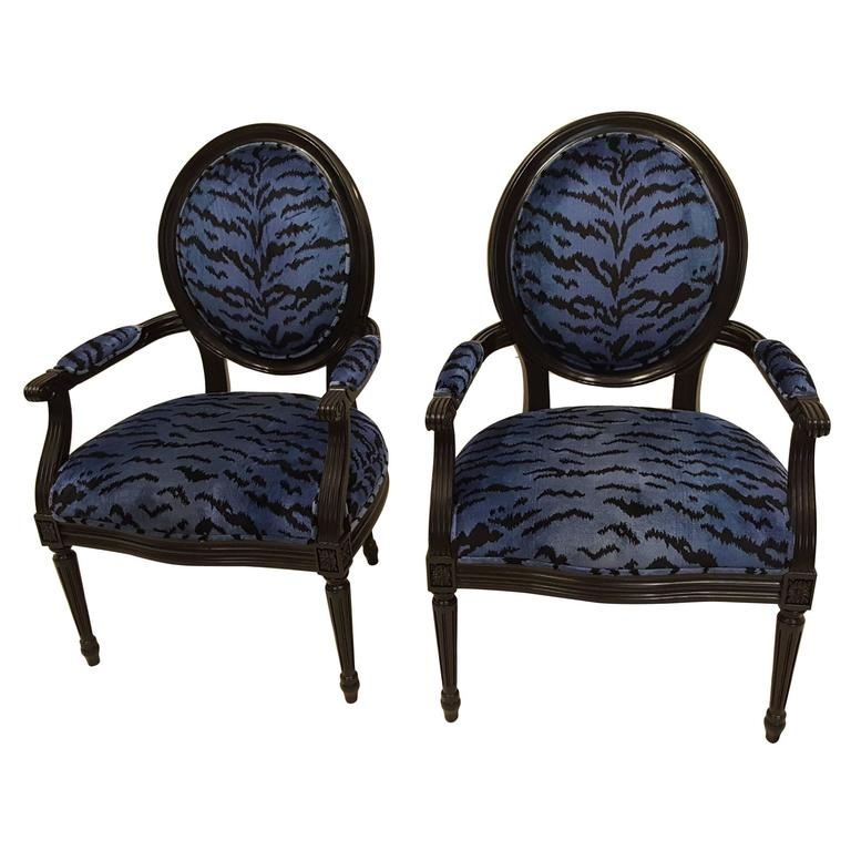 Pair of Ballon Back Chairs