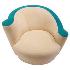 Kagan Corkscrew Swivel Chair and Ottoman