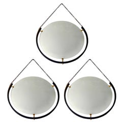 Set of Round Italian Floating Mirrors
