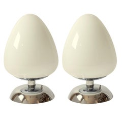 Reggiani Huge  Egg Shaped Glass Table Lamp, 1960s, Italy