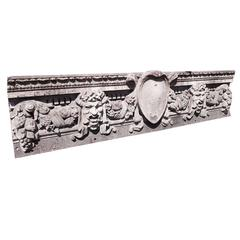 1910 Historic Cast Iron Bacchus Frieze from a Grand Central Area Building Facade