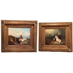 Pair of Victorian Dog Paintings