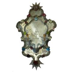 """S.A.L.I.R. Murano Pair of Mirror Wall Lamps """"Ventole"""""""