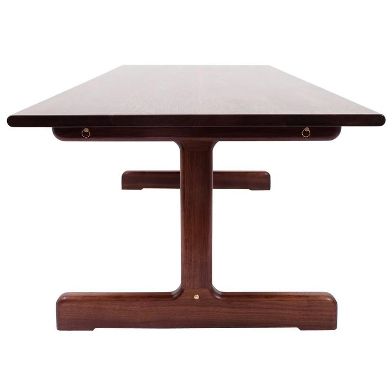 physalia lp dining table low profile foot in american