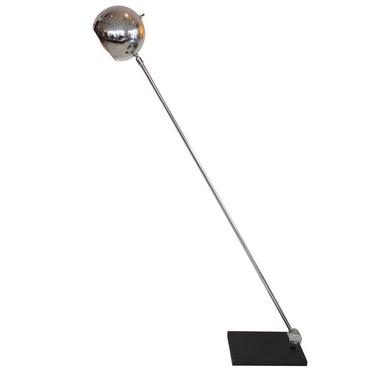 Sonneman Chrome Eyeball Articulating Floor Lamp