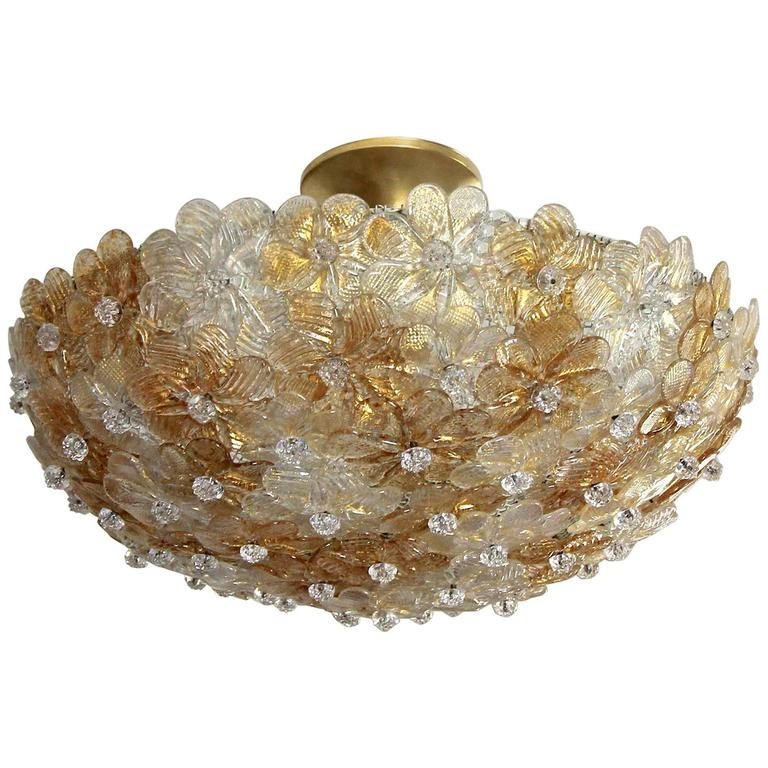 Murano barovier glass floral semi flush mount ceiling pendant light murano barovier glass floral semi flush mount ceiling pendant light for sale aloadofball Choice Image
