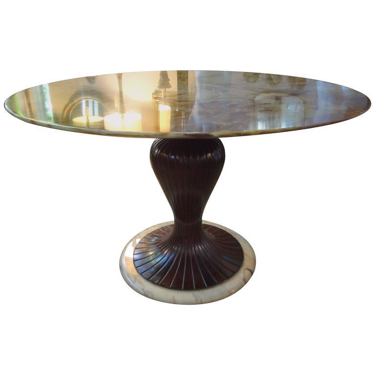 Italian Mid-Century Center Table Made in Milan by Osvaldo Borsani