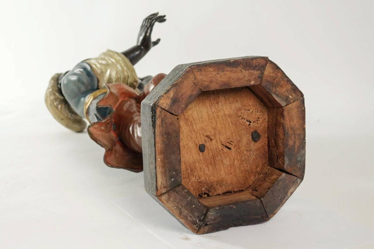 Early 19th Century Venetian Nubian Torcheres in Painted Wood, circa 1800 For Sale 4