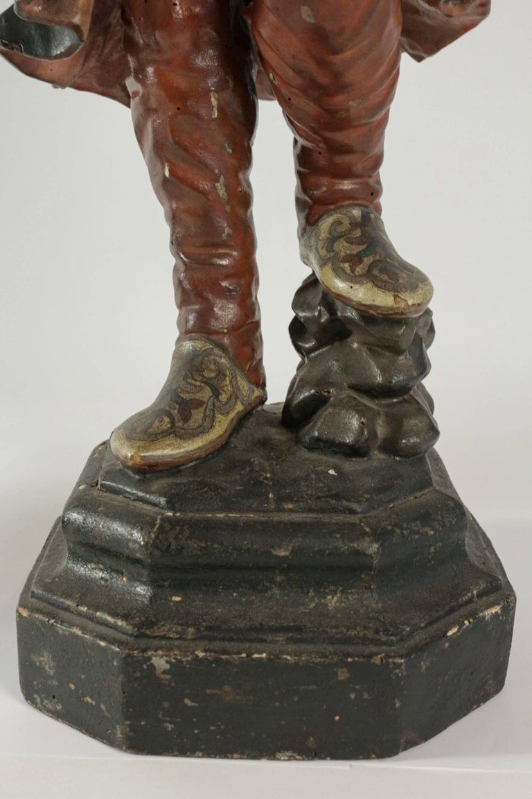 Early 19th Century Venetian Nubian Torcheres in Painted Wood, circa 1800 For Sale 2