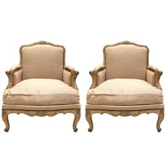 Early 19th Century Pair of Louis XV Bergeres