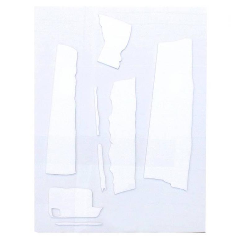 White Abstract Expressionist Lucite Panel by David Porter For Sale