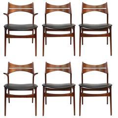 Set of Six Erik Buck for Chr. Christiansen Dining Chairs