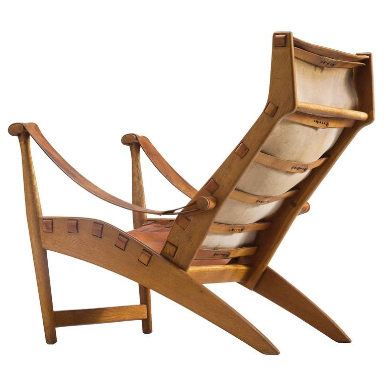 Mogens Voltelen Cognac Copenhagen Chair For Sale