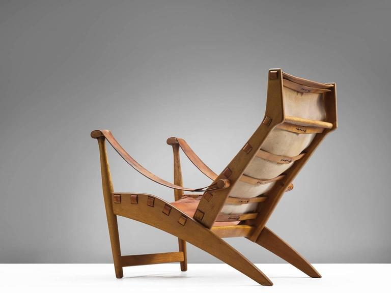 Mid-20th Century Mogens Voltelen Cognac Copenhagen Chair For Sale