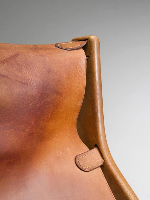 Leather Mogens Voltelen Cognac Copenhagen Chair For Sale