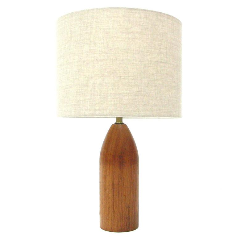 Gordon & Jane Martz Teak Lamp for Marshall Studios For Sale