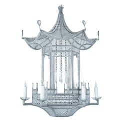 "Custom-Made, ""Venezia"" Beaded Pagoda Chandelier"