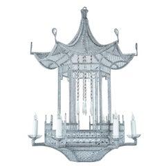 """Custom-Made, """"Venezia"""" Beaded Pagoda Chandelier"""