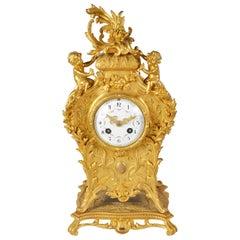Antique Louis XVI Style Rococo Mantel Clock