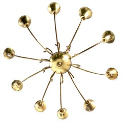 Beautiful Vintage Brass Chandelier, Italy, 1950s
