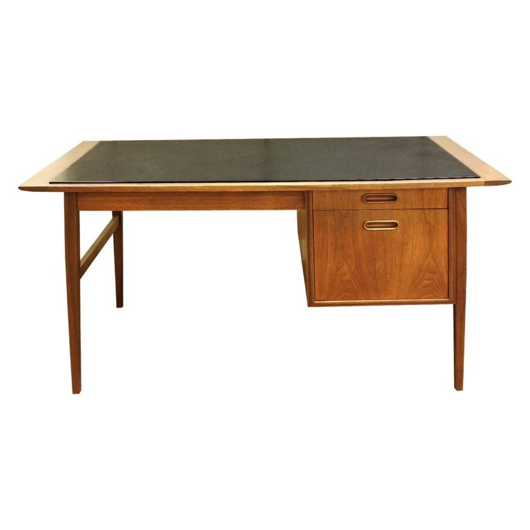 Danish Desk with Micarta Top, 1960s For Sale