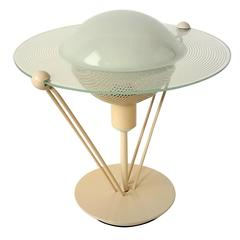Saturn Glass Table Lamp , 1980s , Italia