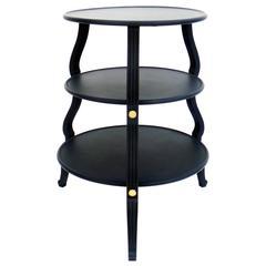 Circular Three-Tier Table